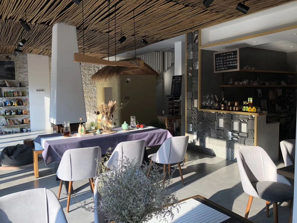 Restaurant, Feihua Inn, Zhaoxing, China Reisen