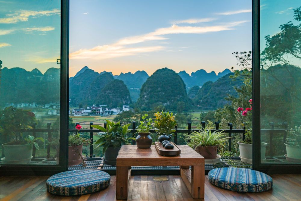 Mountainview Room, Fengxi Inn Hotel, Wanfenglin, China Reisen