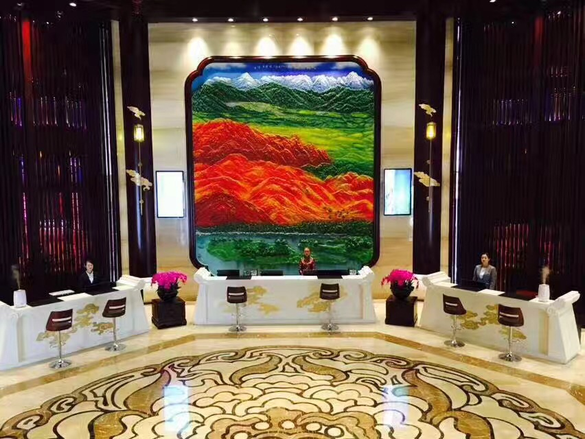 Lobby, Jinyang International Hotel, Zhangye, China Reise