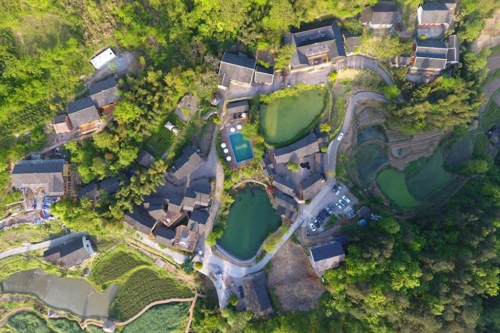 Aerial View, No. 5 Valley Resort, Wulingyuan, China Rundreise