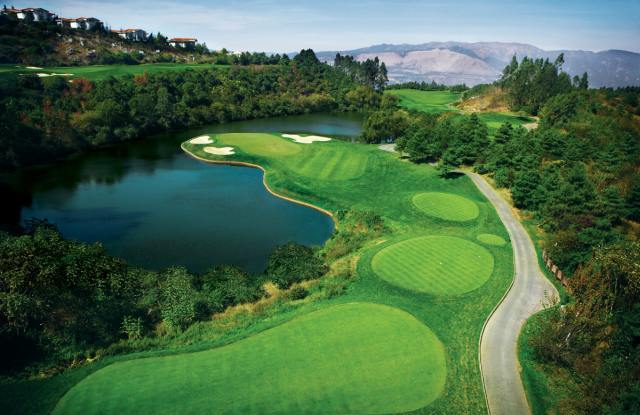 Panoramabild, Spring City Golf & Lake Resort, Kunming, China Rundreise