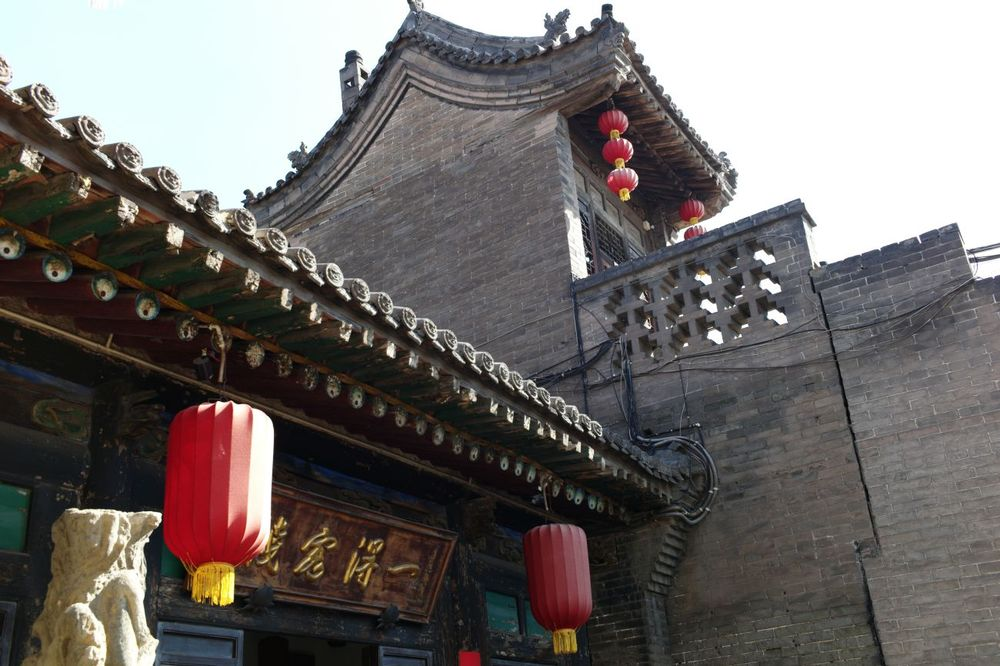 Traditionelle Architektur, Yide Hotel, Pingyao, China Reise