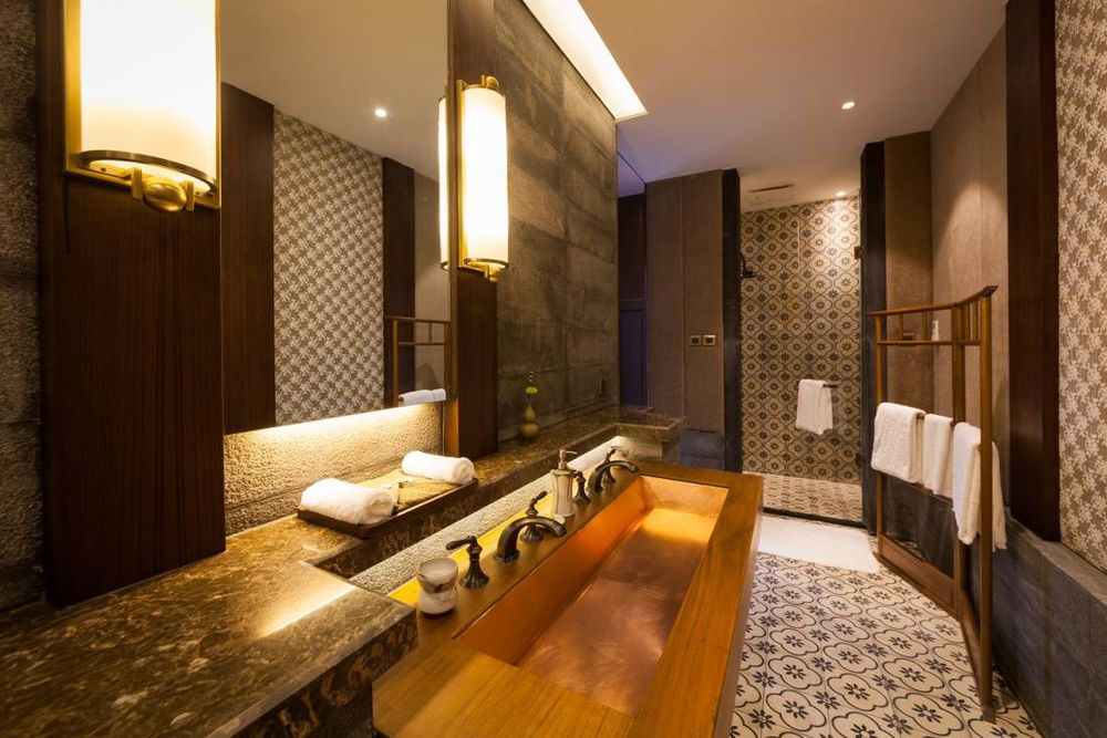 Badezimmer, Silver Chest Boutique Hotel, Kunming, China Rundreise