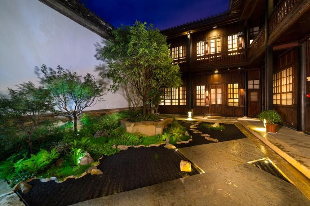 Garten, Silver Chest Boutique Hotel, Kunming, China Rundreise