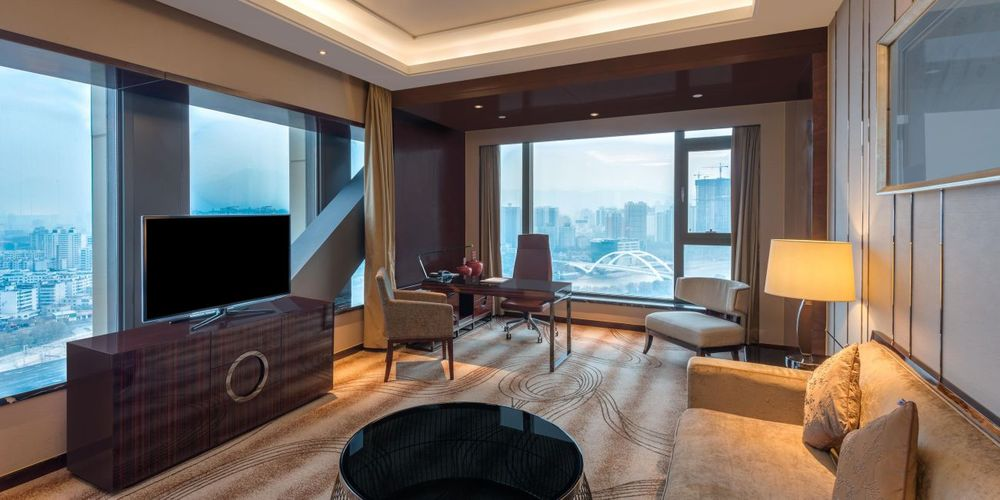 Suite, Crowne Plaza Lanzhou, China Reise