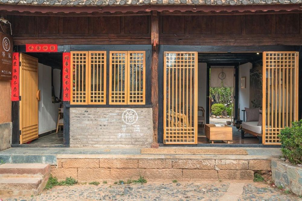 Außenansicht, Qingjing Lodge, Shaxi, China Rundreise