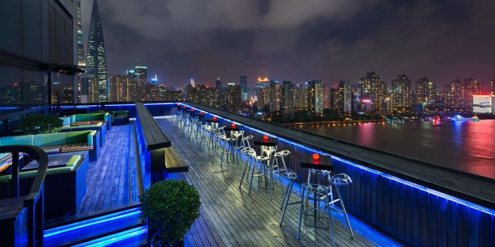 Bar und Lounge, Hotel Indigo on the Bund, Shanghai, China Reisen